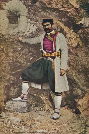 'A Montenegrin in Holiday Costume', c1913