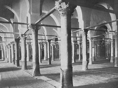 'Kairouan. Interior of the Grande Mosque', c1913