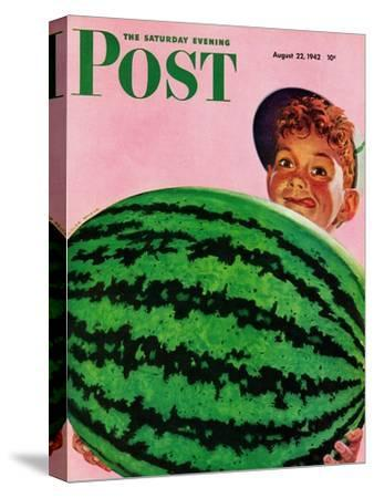 """""""Big Watermelon,"""" Saturday Evening Post Cover, August 22, 1942"""