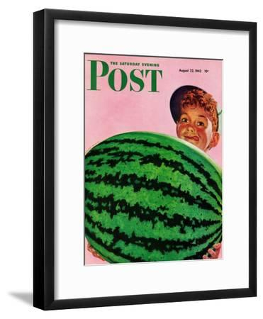 """Big Watermelon,"" Saturday Evening Post Cover, August 22, 1942"