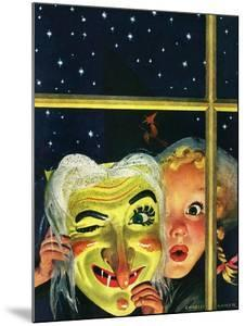 """""""Witch's Mask,"""" October 31, 1942 by Charles Kaiser"""