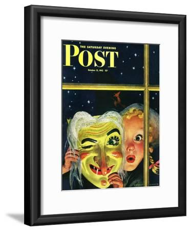 """Witch's Mask,"" Saturday Evening Post Cover, October 31, 1942"