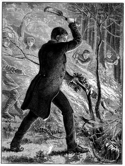 Charles Kingsley Fighting a Fire, British Writer and Cleric--Giclee Print