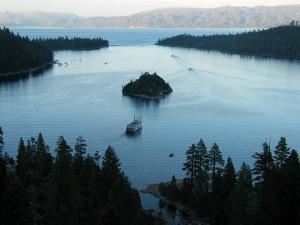 Cruise Boat for Sight-Seers Takes a Ride in Emerald Bay, Lake Tahoe by Charles Kogod