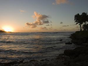 Sunset at Turtle Bay on the North Shore of Oahu Island in Hawaii by Charles Kogod