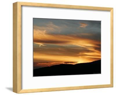 Sunset View of Blue Ridge Range from Range View Overlook