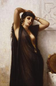An Odalisque by Charles Landelle