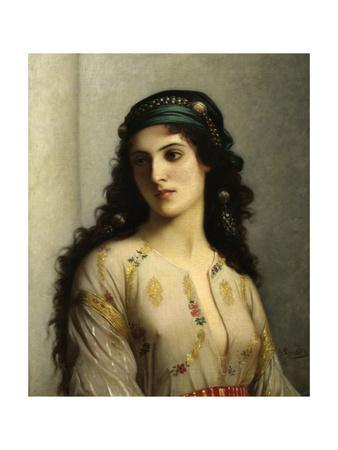 Jewish Woman from Tangiers. 1874. by Charles Landelle. Oil on Canvas, French Painting.
