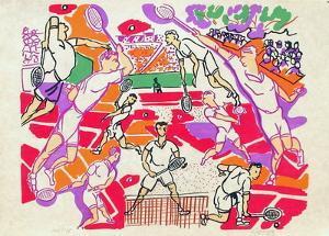 La partie de tennis III by Charles Lapicque
