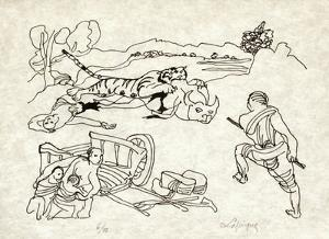 PA - Le tigre des Ming 11 by Charles Lapicque