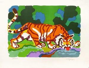 PA - Tigre buvant by Charles Lapicque