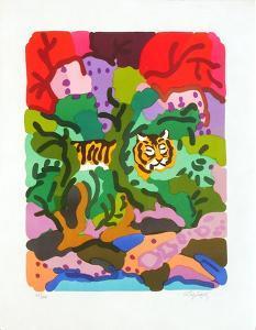 PA - Tigre dans la jungle by Charles Lapicque