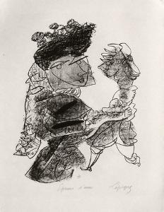 Portraits VIII : La femme et le pantin by Charles Lapicque