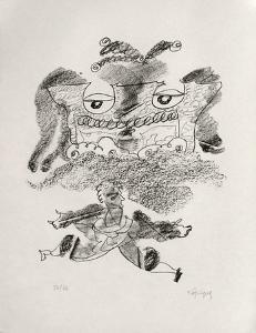 Portraits VIII : Le grand écart by Charles Lapicque