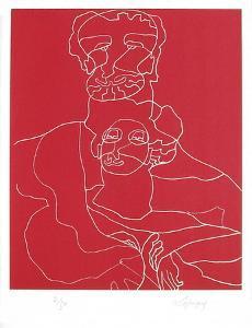 Portraits X : Antonin et Faustine by Charles Lapicque