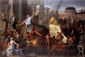 Alexander Entering Babylon (The Triumph of Alexander the Grea) by Charles Le Brun