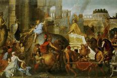 Louis XIV Gices Orders to Attack Four Strongholds in Holland, 1672-Charles Le Brun-Giclee Print