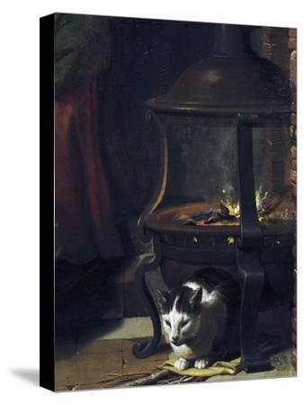 Cat under Burning Brazier, Detail from Infant Jesus Sleeping