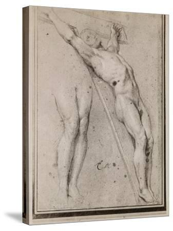 Christ on the Cross, C.1685 (Pierre Noire and White Chalk Highlights on Beige Paper)