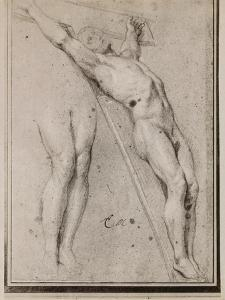 Christ on the Cross, C.1685 (Pierre Noire and White Chalk Highlights on Beige Paper) by Charles Le Brun