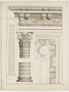 Colonne avec chapiteau, entablement et corniche by Charles Le Brun
