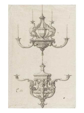 Deux chandeliers