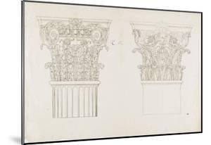 Deux chapiteaux by Charles Le Brun