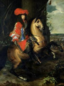 Equestrian Portrait of Louis XIV by Charles Le Brun