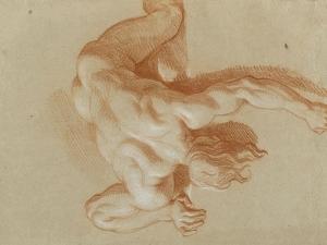 Homme nu, renversé by Charles Le Brun