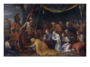 """La Famille de Darius aux pieds d'Alexandre dit """"la tente de Darius"""" by Charles Le Brun"""