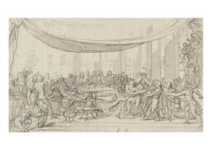 Le dernier banquet d'Alexandre by Charles Le Brun