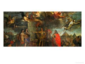 Louis XIV Gices Orders to Attack Four Strongholds in Holland, 1672 by Charles Le Brun