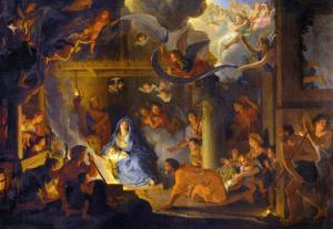 The Adoration of the Shepherds, 1689 by Charles Le Brun