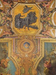 War for the Rights of the Queen in 1667, Ceiling Painting from the Galerie Des Glaces by Charles Le Brun