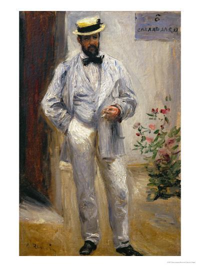 Charles Le Coeur, Architect and Friend of the Painter, 1874-Pierre-Auguste Renoir-Giclee Print