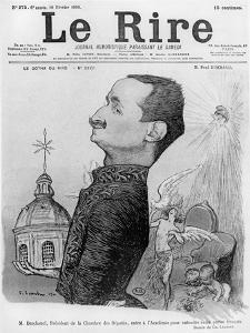 Caricature of Paul Deschanel, from 'Le Rire', 10 February 1900 by Charles Leandre