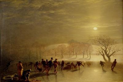 Skaters: Duddingston Loch by Moonlight, 1857
