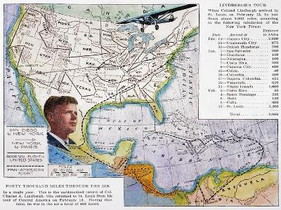 Charles Lindbergh--Giclee Print