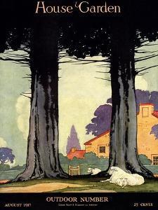 House & Garden Cover - August 1917 by Charles Livingston Bull