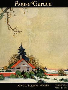 House & Garden Cover - February 1918 by Charles Livingston Bull