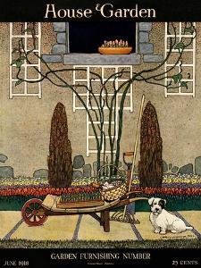 House & Garden Cover - June 1918 by Charles Livingston Bull