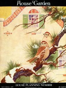 House & Garden Cover - November 1916 by Charles Livingston Bull