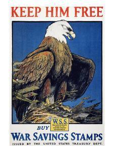 World War I: Saving Stamps by Charles Livingston Bull