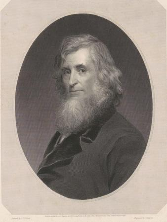 Asher Brown Durand, 1865 (engraving on chine collé
