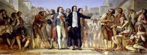 Philippe Pinel Releasing Lunatics from Their Chains at the Bicetre Asylum in Paris in 1793 by Charles Louis Lucien Muller
