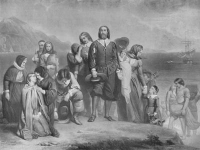 'The Landing of the Pilgrim Fathers', c1848, (1911)