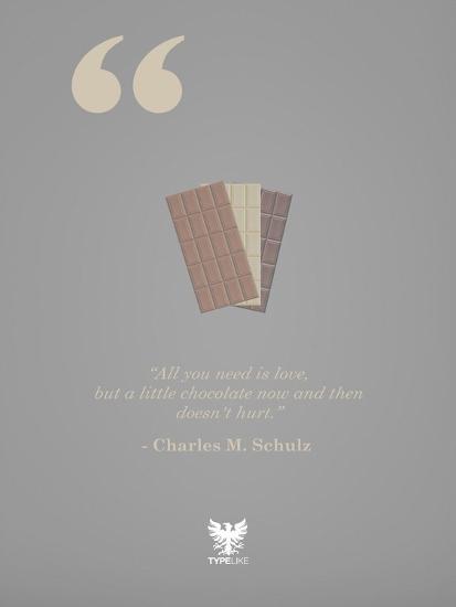 Charles M. Schulz-TypeLike-Art Print