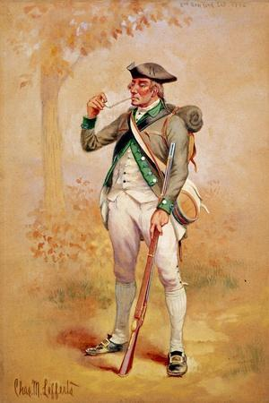 Uniform of a Private of the Continental Line in the 3rd New York Regiment in 1775, C.1920