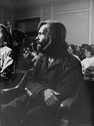 Charles Manson in Court Facing Murder Charges in Brutal Deaths of Actress Sharon Tate and Others-Vernon Merritt III-Premium Photographic Print