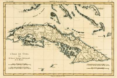 Cuba, from 'Atlas De Toutes Les Parties Connues Du Globe Terrestre' by Guillaume Raynal (1713-96)… by Charles Marie Rigobert Bonne
